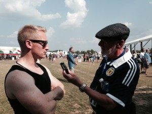 Doug interviewing Daniel Gillespie of Skerryvore